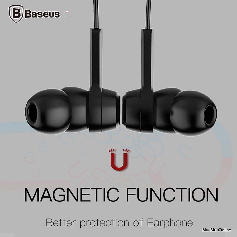 Tai Nghe Bluetooth Baseus Encok S06 Magnetic Sport