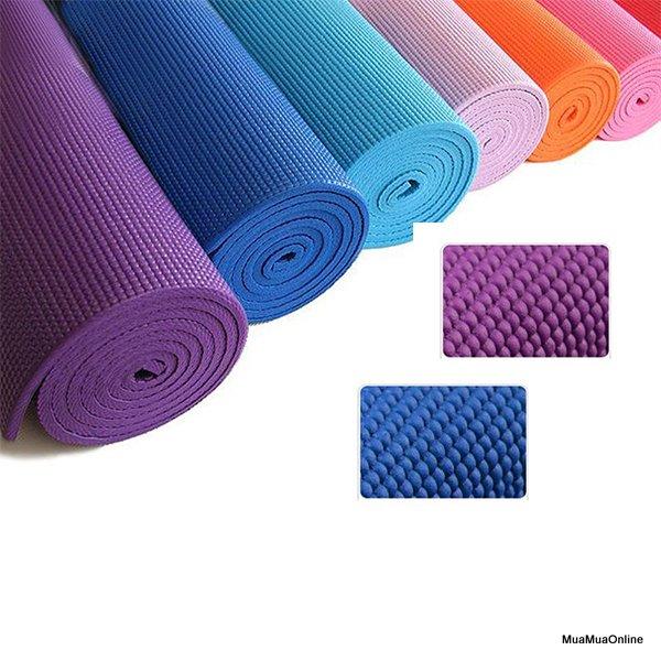 Thảm Tập Yoga PVC 2 Lớp Cao Cấp + Tặng Kèm Túi Đựng