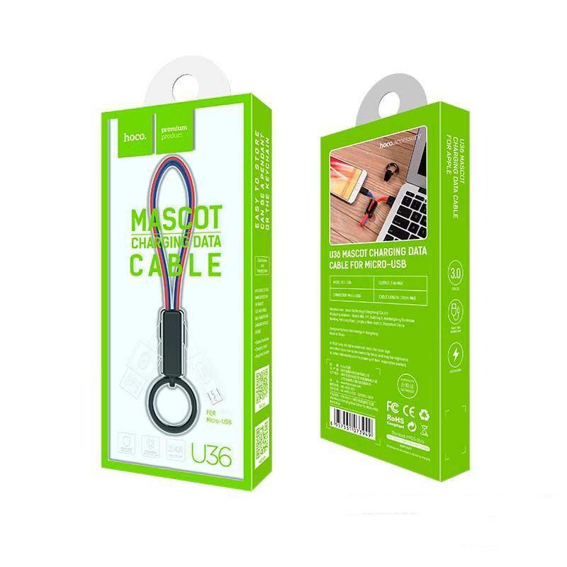 Cáp Sạc Hoco U36 Kiêm Móc Khóa Cổng Micro USB
