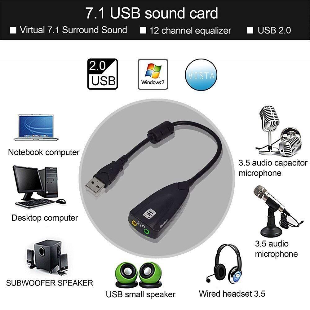 USB 7.1 SOUND CARD 5HV2