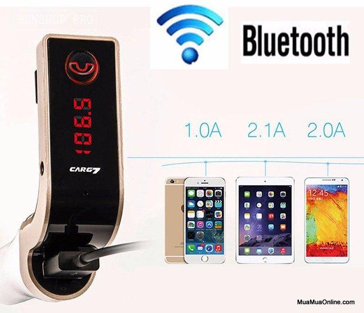 Usb Bluetooth Carg7 5In1 Trên Xe Hơi, Ô Tô