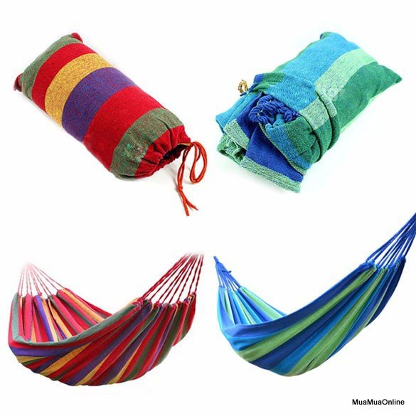 Võng Xếp Gọn Nhiều Màu Tiện Dụng Khi Đi Du Lịch Cắm Trại
