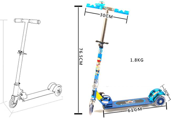 Xe Trượt 3 Bánh Scooter Có Chuông Và Đèn Led Cao Cấp