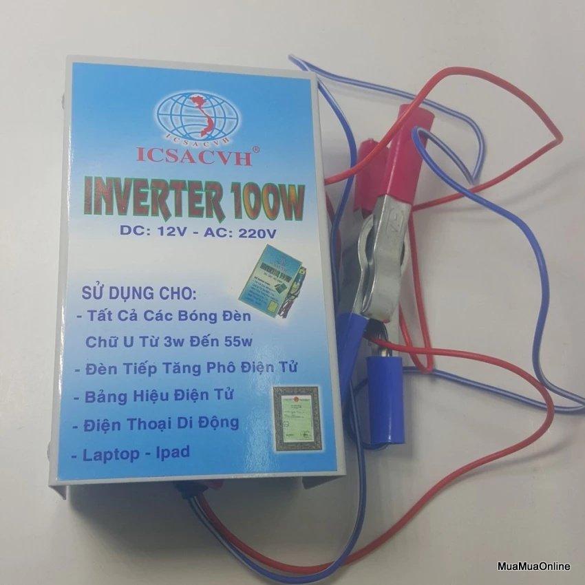 Bộ Đảo Điện Inverter 12V Ra 220V Công Suất 100W