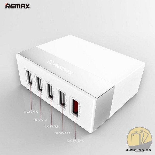 Cóc Sạc 5 Cổng Usb Remax Ru-U1 Chính Hãng