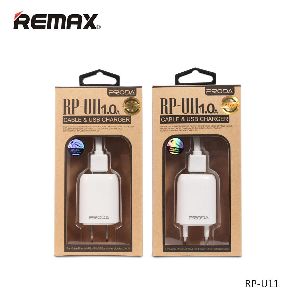 Bộ Sạc Remax Proda Rp-U11 1A Cổng Micro Usb Chính Hãng