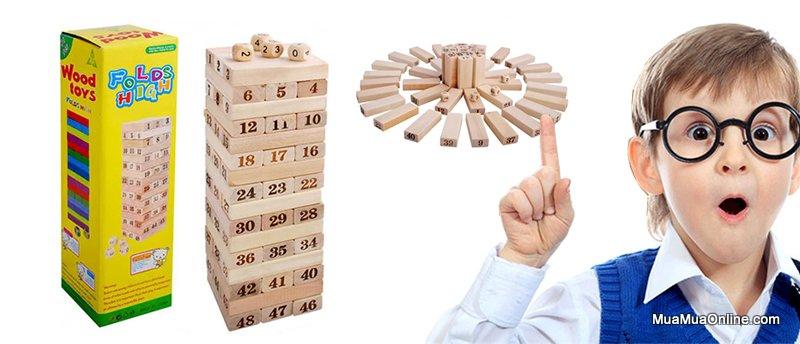 Bộ Trò Chơi Rút Gỗ 48 Thanh Wood Toy