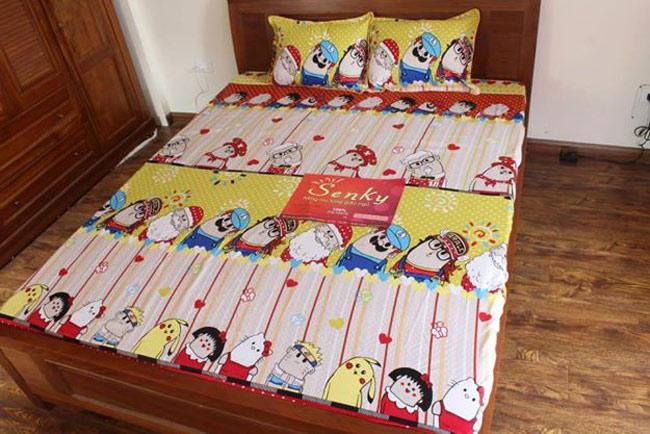 Bộ Drap Giường+2 Bao Gối Ngộ Nghĩnh