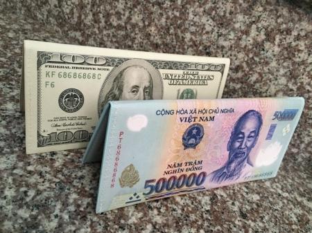 Bóp Nữ Cầm Tay Hình Tiền 500000Đ, 100 Usd
