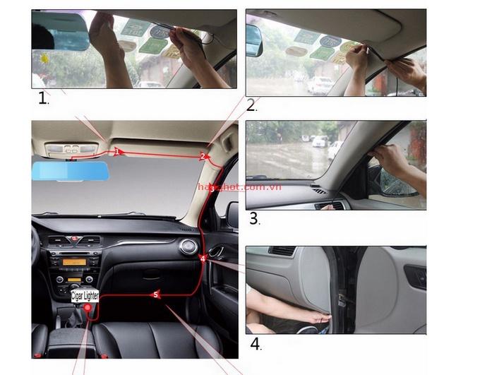 Camera Hành Trình Dạng Gương Chiếu Hậu Hd Vehicle Traveling Data Recorder