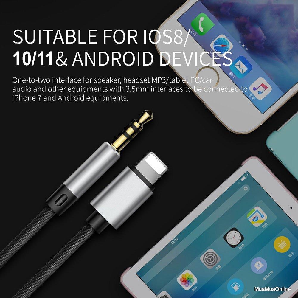 Cáp Chuyển Âm Thanh Baseus L33 Cho Iphone 6/ 7/ 8/ Iphone X