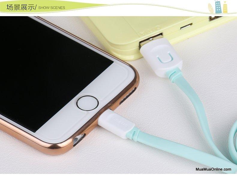 Cáp Sạc Lightning Iphone 5,6,7 Usam Sj097 Chính Hãng