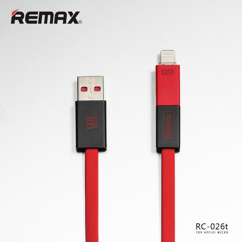 Cáp Sạc Iphone/micro 2 Trong 1 Remax Rc- 026T Cao Cấp Chính Hãng