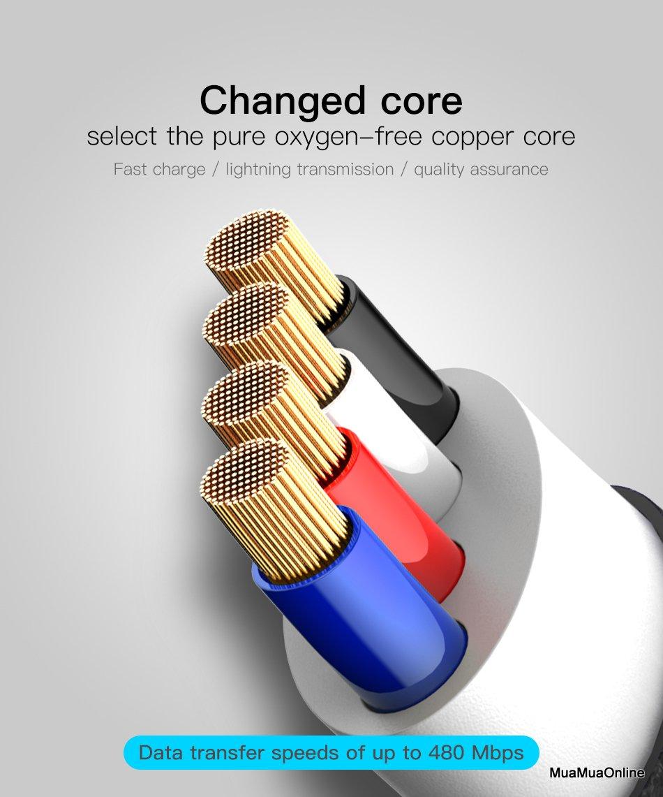 Cáp Sạc Nhanh Baseus Type C Zinc Alloy Fabric Cloth Weaving Cho Samsung S8/9, Note 8/9