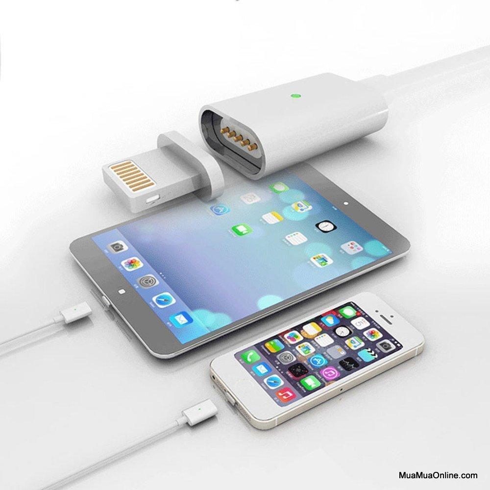 Cáp Sạc Từ Hít Nam Châm 2 In 1 Iphone 5, 6, 7 Và Samsung Chính Hãng