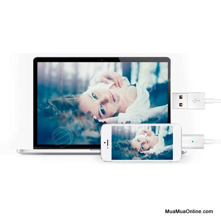 Cáp Sạc Từ Hít Nam Châm Iphone 5, 6 Cao Cấp