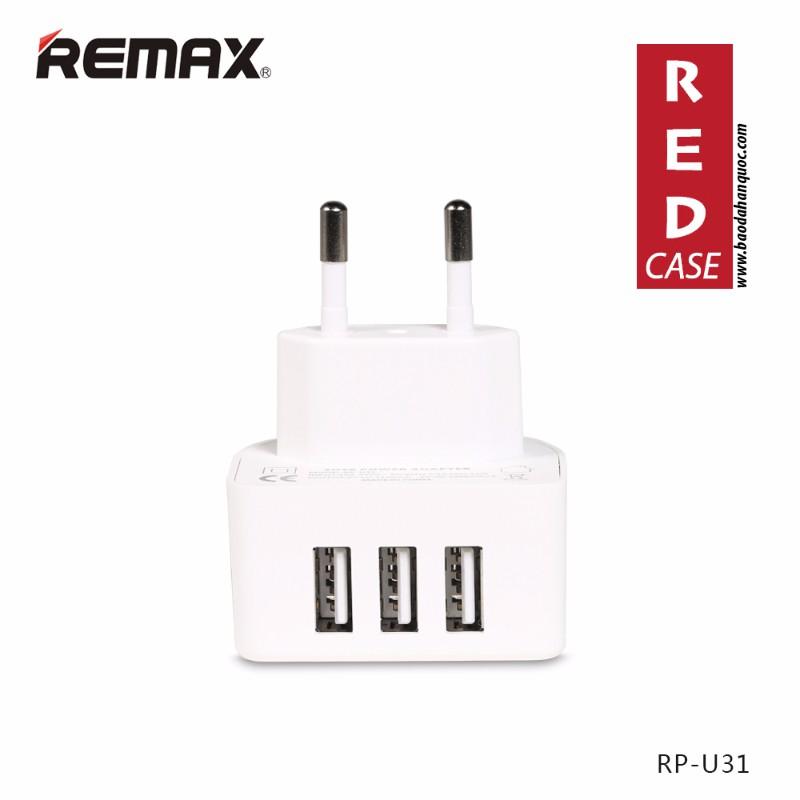 Cóc Sạc Đa Năng  3 Cổng Usb Remax Rp-U31 Chính Hãng
