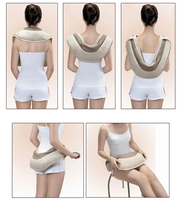Đai Massage Đấm Lưng, Vai, Cổ, Gáy Neck Shoulder W-808 Cao Cấp