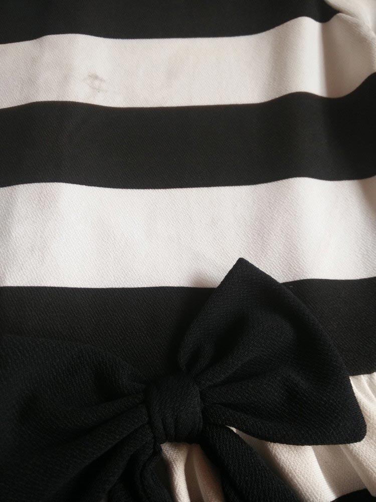 Đầm Xòe Sọc Ngang Mẹ Và Bé