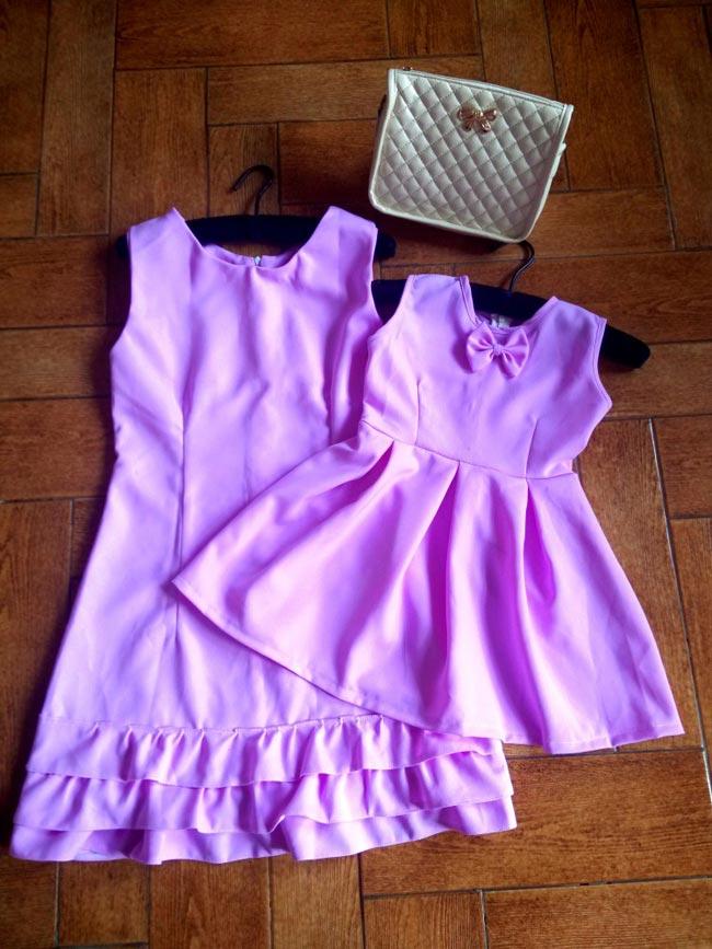 Đầm Purple Mẹ Và Bé