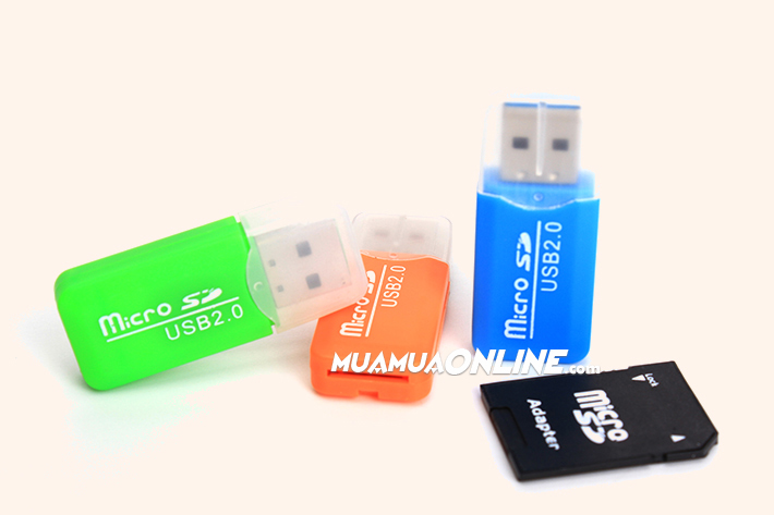 Đầu Đọc Thẻ Nhớ Mini Multi Card Reader Usb 2.0 (Bộ 2 Cái)