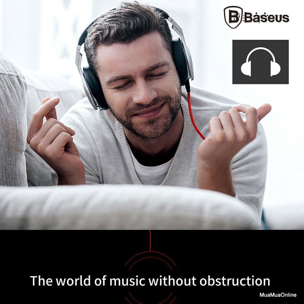 Dây Cáp Âm Thanh Baseus M30 Aux Audio 3.5