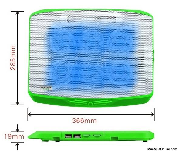 Đế Tản Nhiệt Laptop Cool Cold N100 6 Quạt Premium Chính Hãng