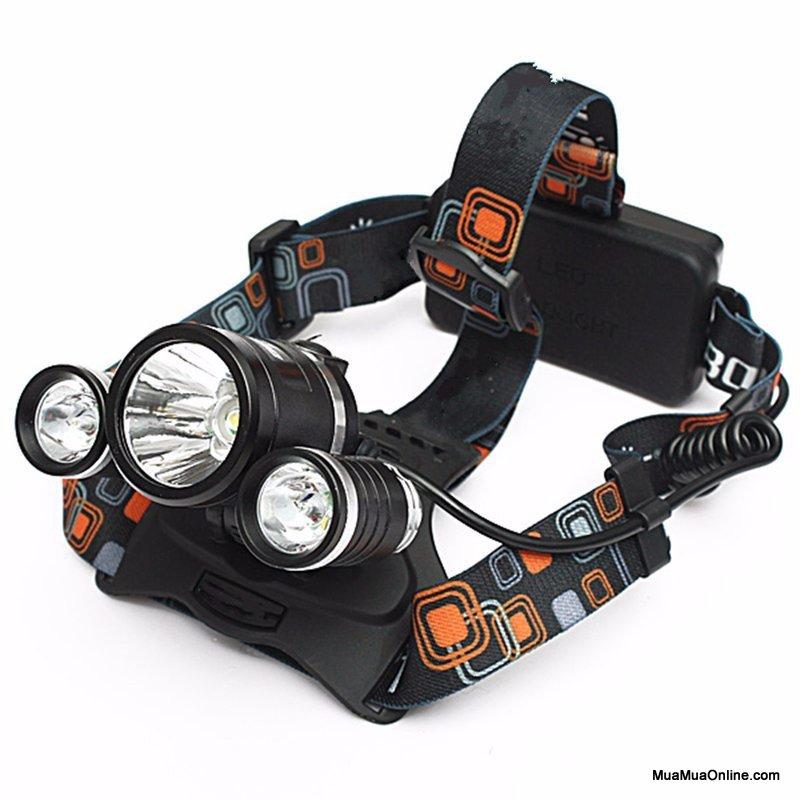 Đèn Pin Đội Đầu 3 Bóng Siêu Sáng