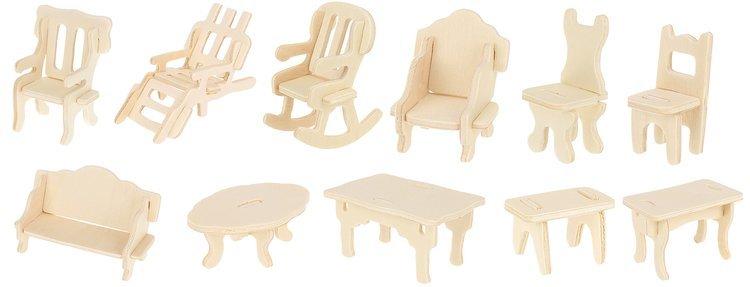 Đồ Chơi Lắp Ráp Gỗ 3D Mô Hình Vật Dụng Nhà Cửa Wooden Toy