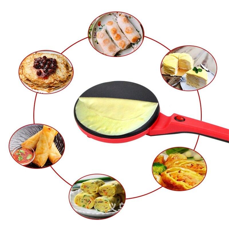 Máy Làm Bánh Dạng Chảo Chuyên Làm Bánh Cuốn, Bánh Tráng, Bánh Crepe, Bánh Pancake Tặng Kèm Đĩa Và Đầu Khuấy Bột