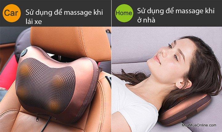 Gối Massage Hồng Ngoại Đa Năng Massage Pillow Chm-8028