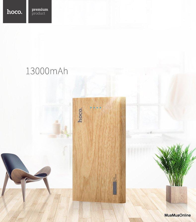 Pin Sạc Dự Phòng Hoco B12B Carbon 13.000Mah