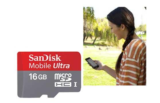 Thẻ Nhớ Microsd Sandisk 16G Class 10 Chính Hãng