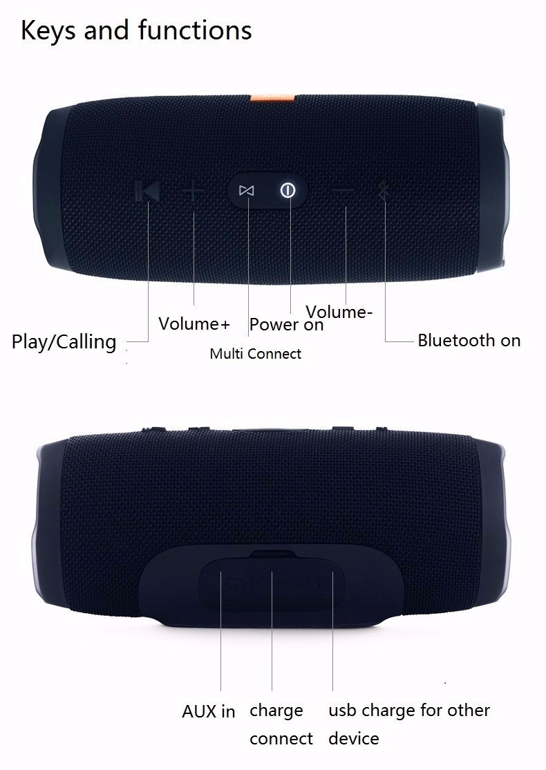 Loa Bluetooth Charge 3 Cao Cấp Cực Hay