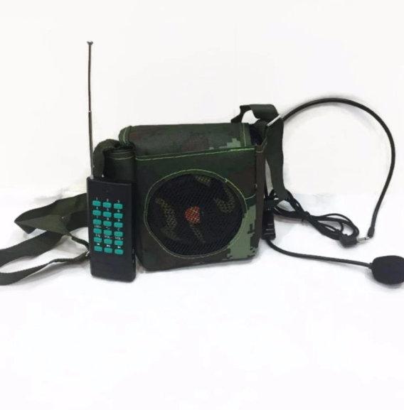 Loa Trợ Giảng, Bẫy Chim E-898 Rằn Ri Có Bluetooth Kèm Túi Đựng
