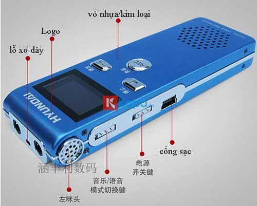 Máy Ghi Âm Hyundai E80 8Gb Có Ghi Âm Và Loa Ngoài