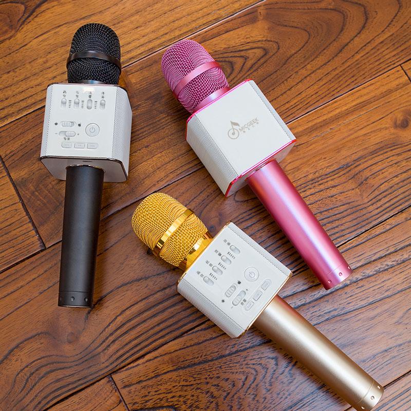 Micro Karaoke Kèm Loa Bluetooth Micgeek Q9 3 Trong 1 Nghe Cực Hay Loại 1