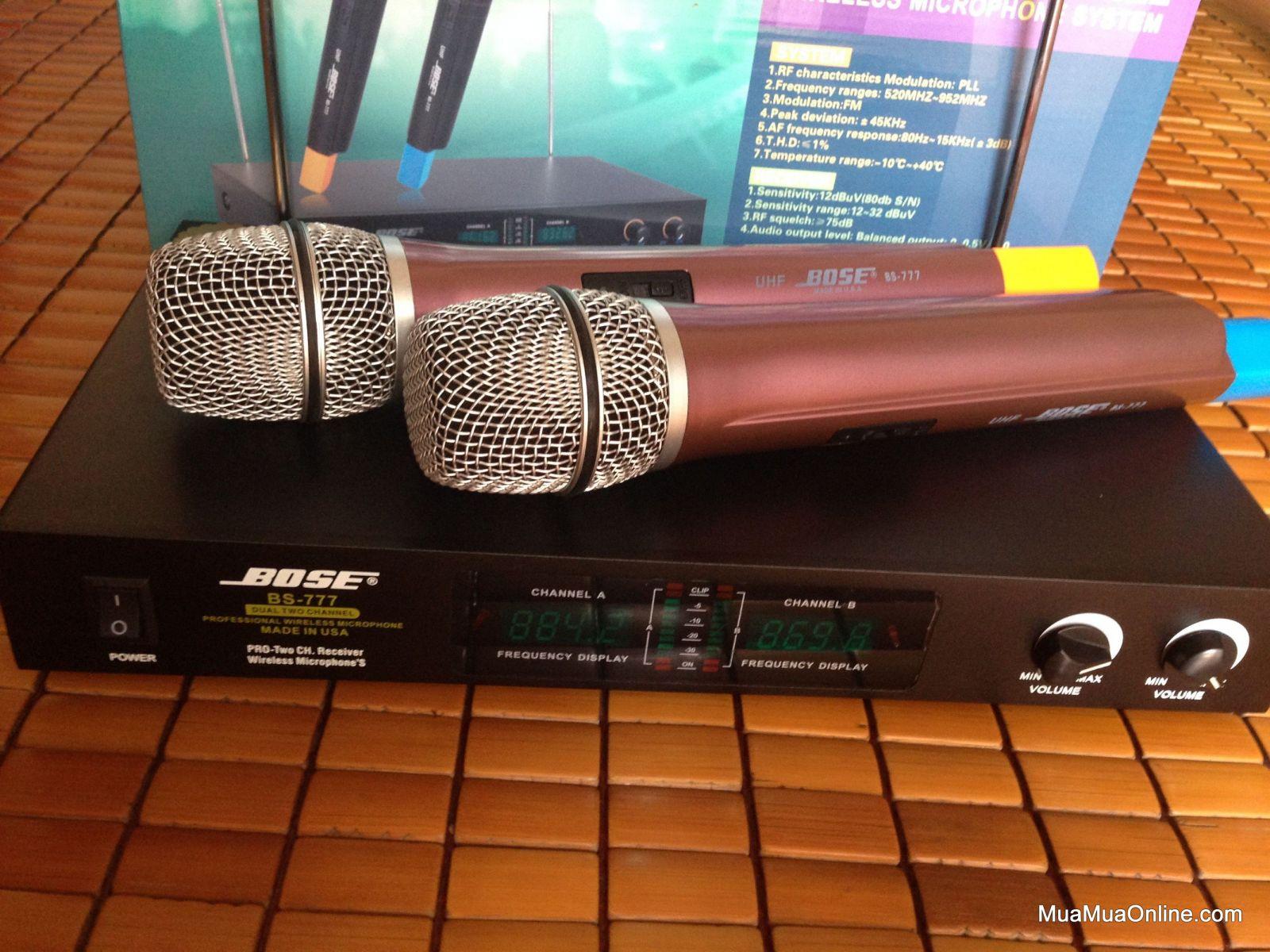 Bộ Micro Karaoke Không Dây Bose Bs-777 Cực Hay