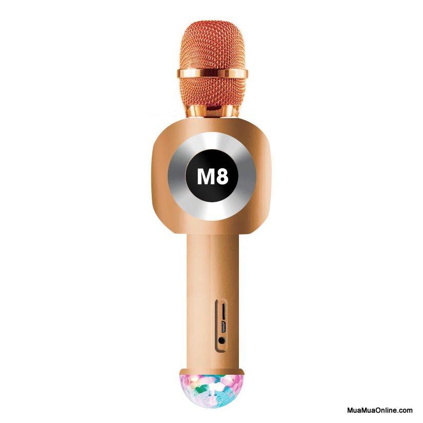 Micro Karaoke Kiêm Loa M8 Tích Hợp Đèn Vũ Trường