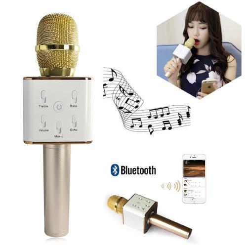 Micro Karaoke Tuxun Q7 3 Trong 1 Loại 1 (Micro Karaoke + Bluetooth + Loa)