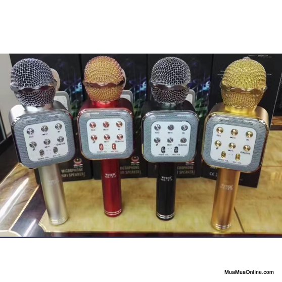 Micro Karaoke Bluetooth Ws-1818 Nghe Hay, Có Ghi Âm Và Jack 3.5 Chuyển Ra Loa Ngoài