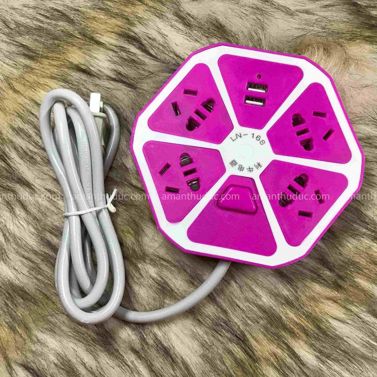 Ổ Cắm Điện Hình Trái Cam 2 Cổng USB Cao Cấp
