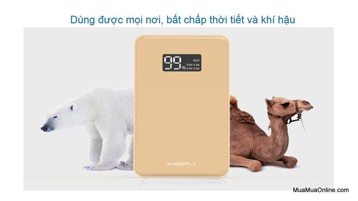 Pin Dự Phòng Hepu Mp906 10.000Mah Chính Hãng Có Lcd