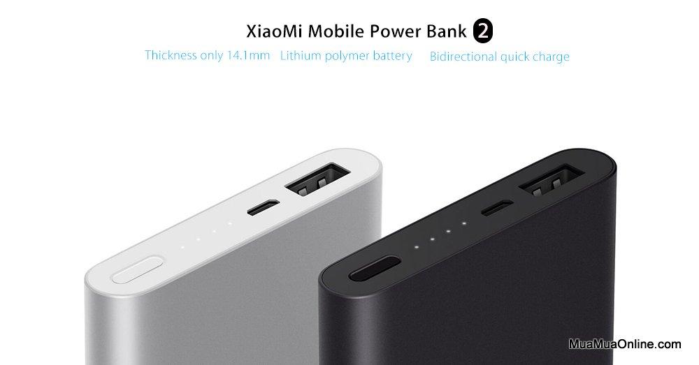 Pin Dự Phòng Xiaomi 10000Mah Gen 2 Chinh Hãng