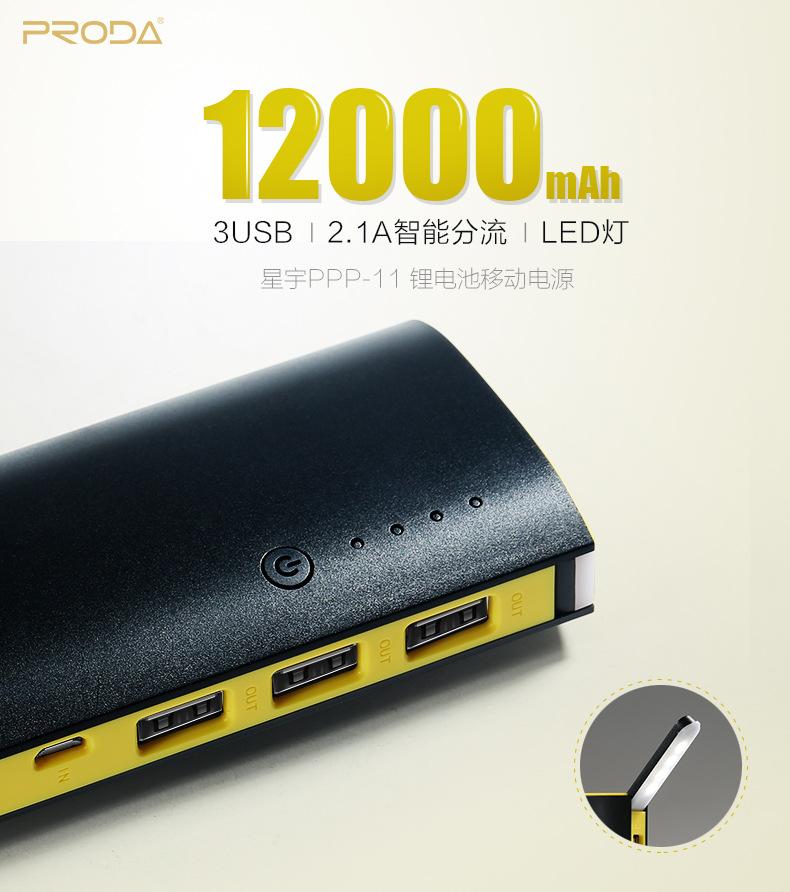 Pin Sạc Dự Phòng Remax Proda Star Talk Rpp-11 12.000Mah Chính Hãng