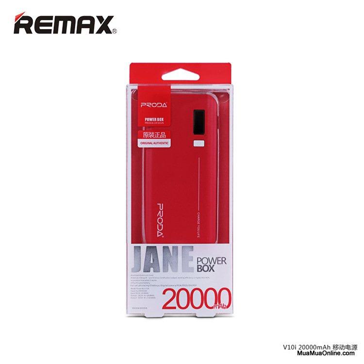 Pin Sạc Dự Phòng Remax Proda Jane V10I 20000Mah Lcd Chính Hãng