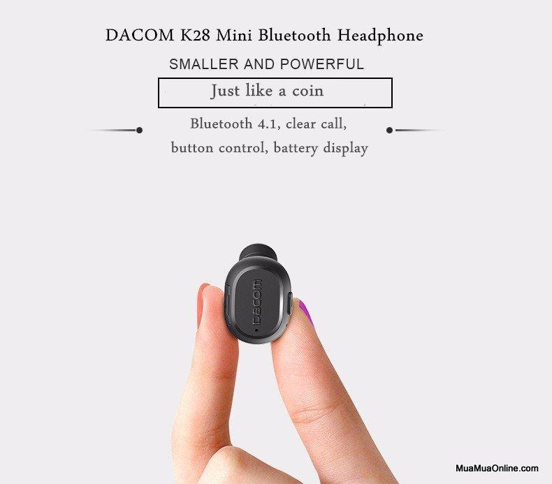 Tai Nghe Bluetooth Dacom K007 Siêu Nhỏ Chính Hãng