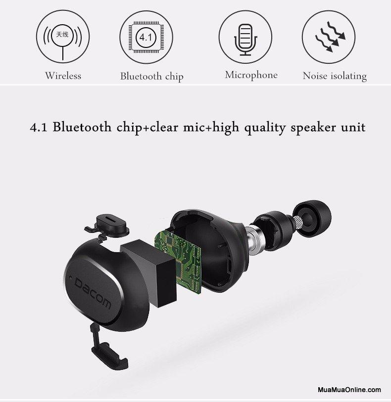 Tai Nghe Bluetooth Dacom K28 Siêu Nhỏ Chính Hãng