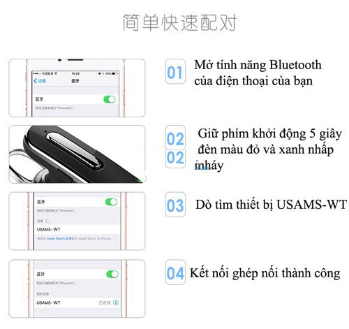 Tai Nghe Bluetooth Usam Wt