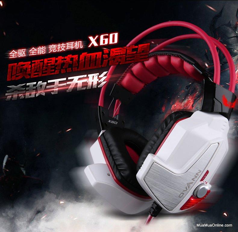 Tai Nghe Chụp Tai Chuyên Game Ovann X60 7.1 Chính Hãng